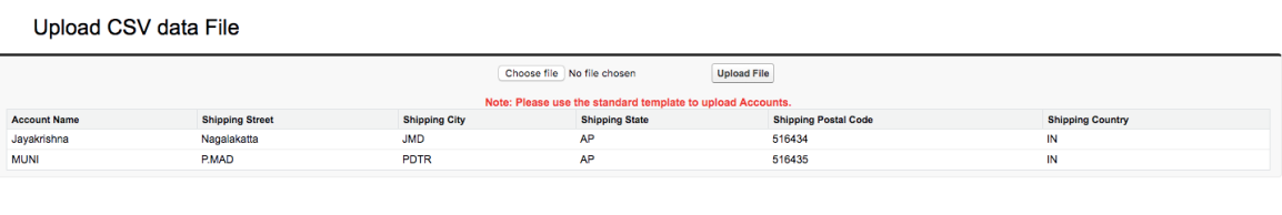 Import CSV file data using Apex & VF page – Jayakrishna